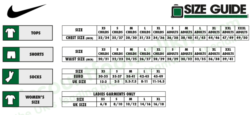 Nike Size Guide - Helping you get it right